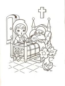 dibujos para colorear de Caperucita Roja y El Malo