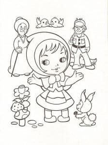 dibujos para colorear de Caperucita Roja