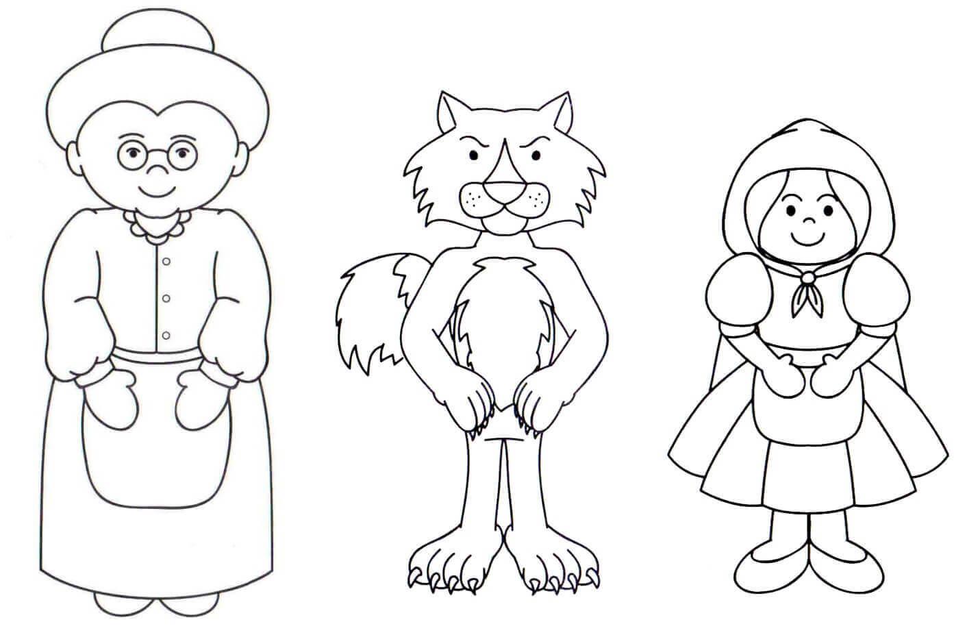 Dibujos Para Colorear De Caperucita Roja Caperucita Roja