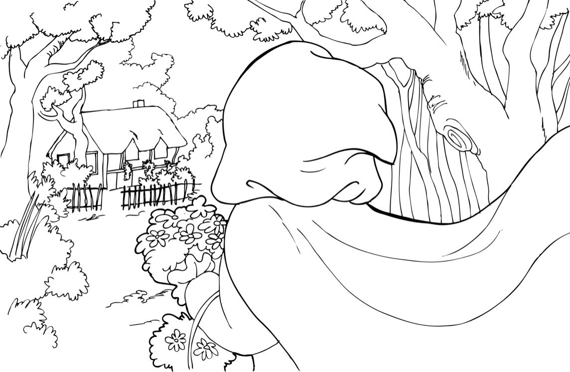 Dibujos para colorear de Caperucita Roja - Caperucita Roja